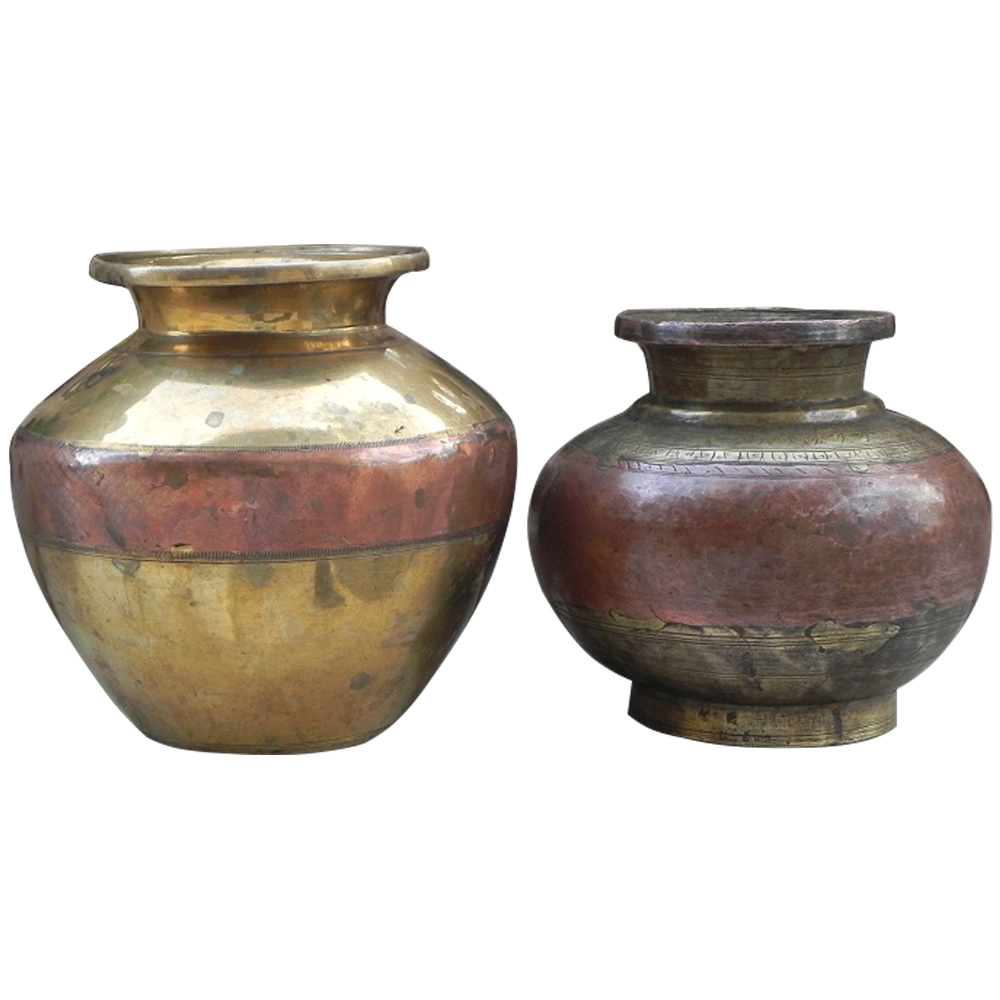 Ganga Jamuna Water Pots Set of 2