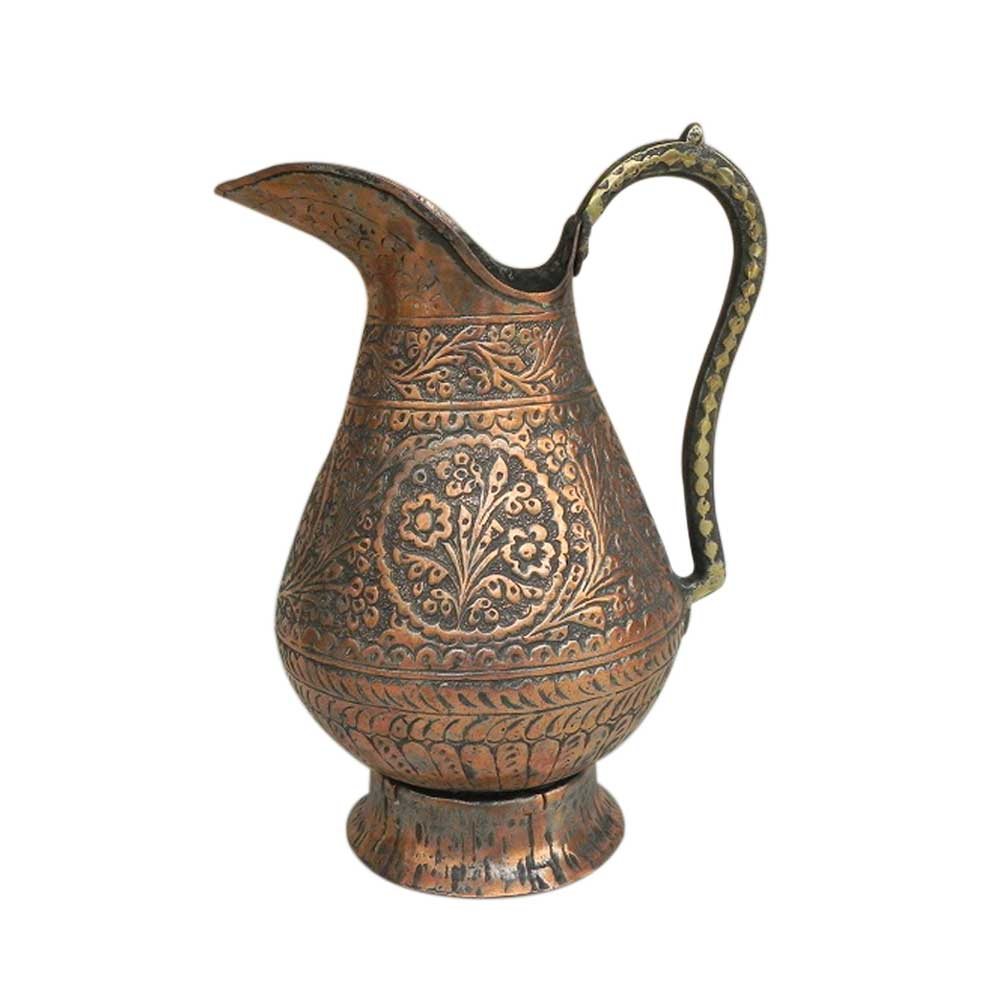 Old Carved Islamic Copper Water Storage Jug