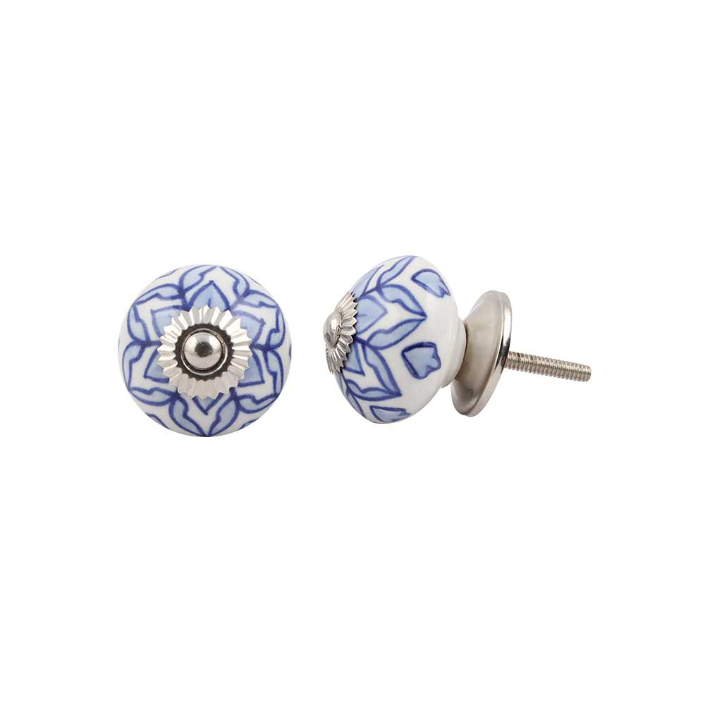 Blue Flower Knob