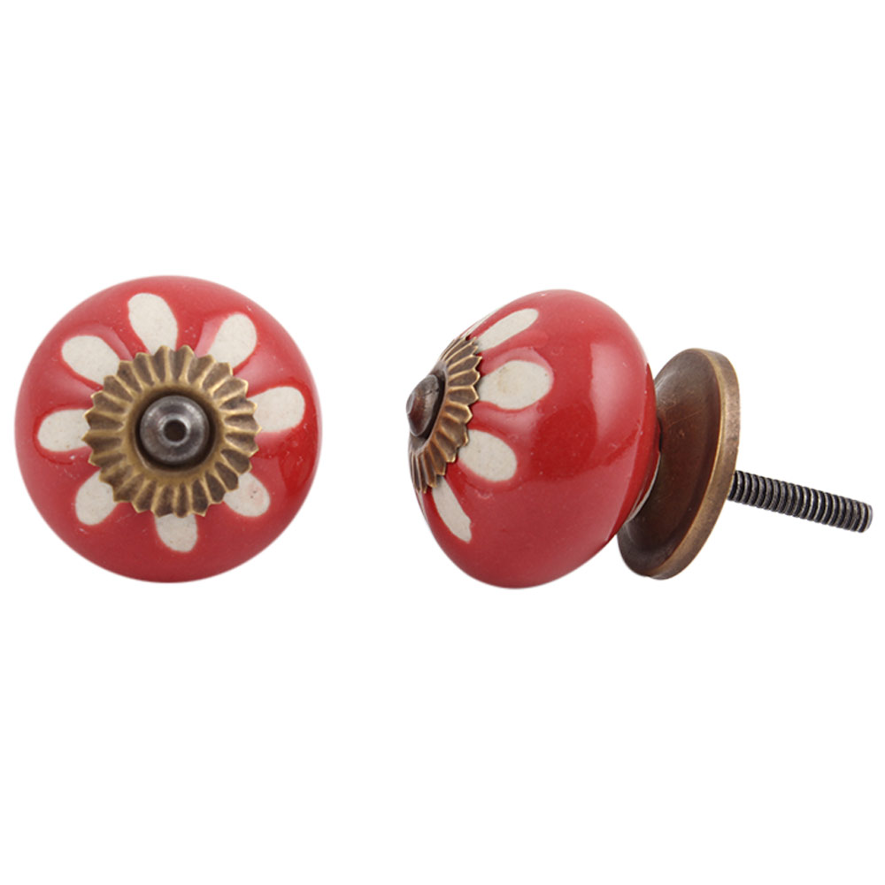 Red Etched Ceramic Knob-20