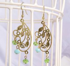 Indo-Western Gold Plated Jewellery Earring