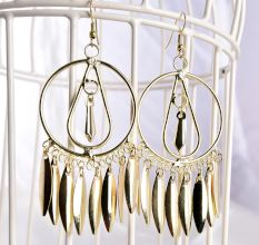 Golden Tribal with Golden Tassel Women Jewellery Earrings
