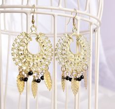 Golden Dream Catcher Drop Dangler Fashion Earrings Online