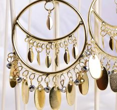 Contemporary Golden Gypsy Styled Designer Earrings