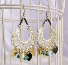 Golden Vintage Bohemian Teardrop Women Earrings