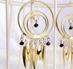 Golden Arabic and Nomad Style Handmade Earrings Women Jewellery