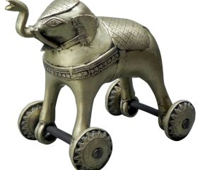 Bronze Elephant on Wheel