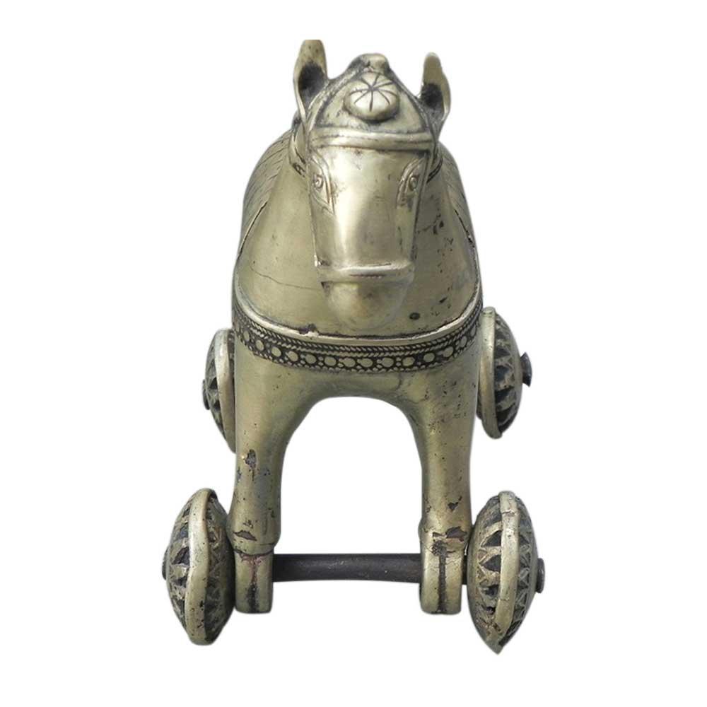 Bronze Horse on Wheel