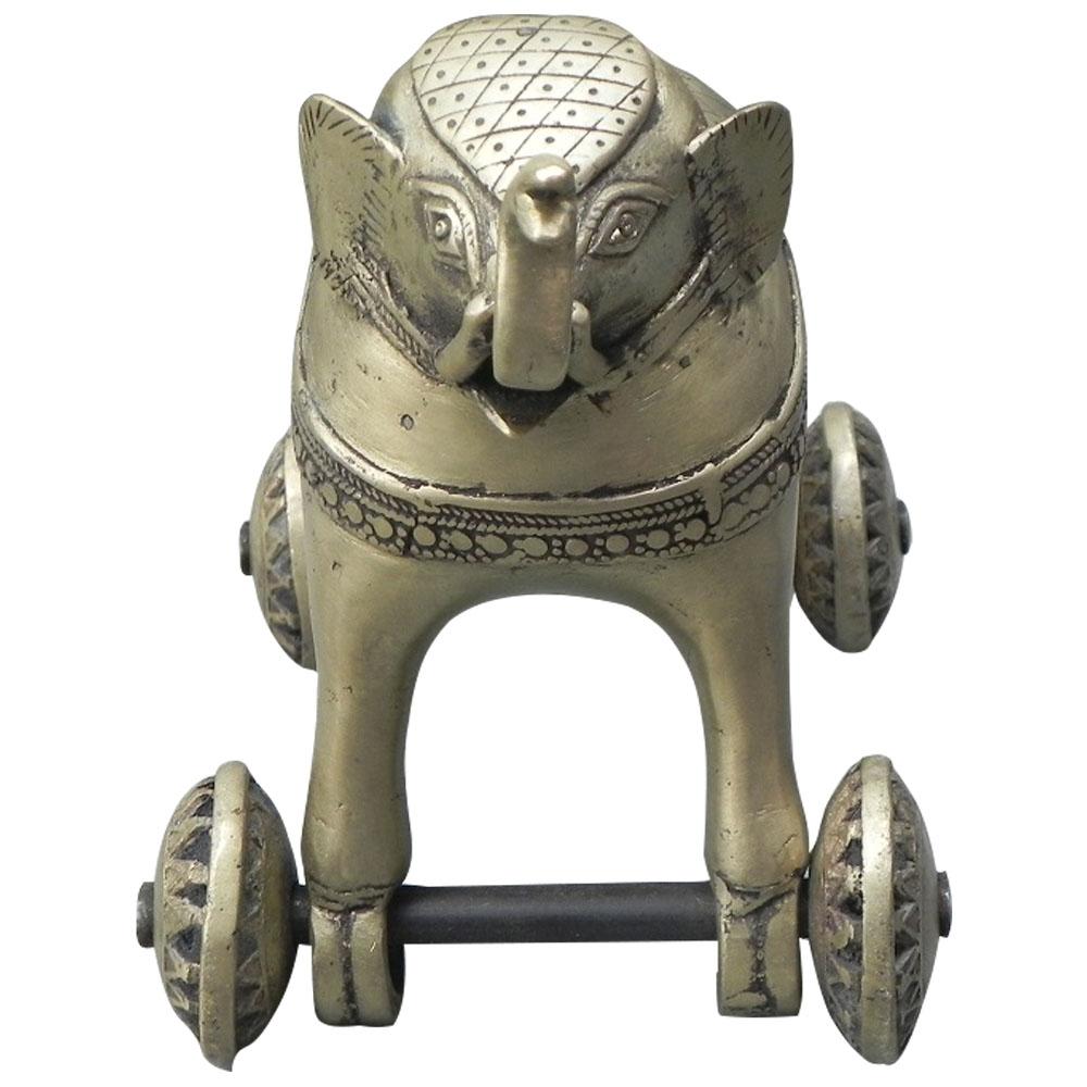 Bronze Elephant on Wheel