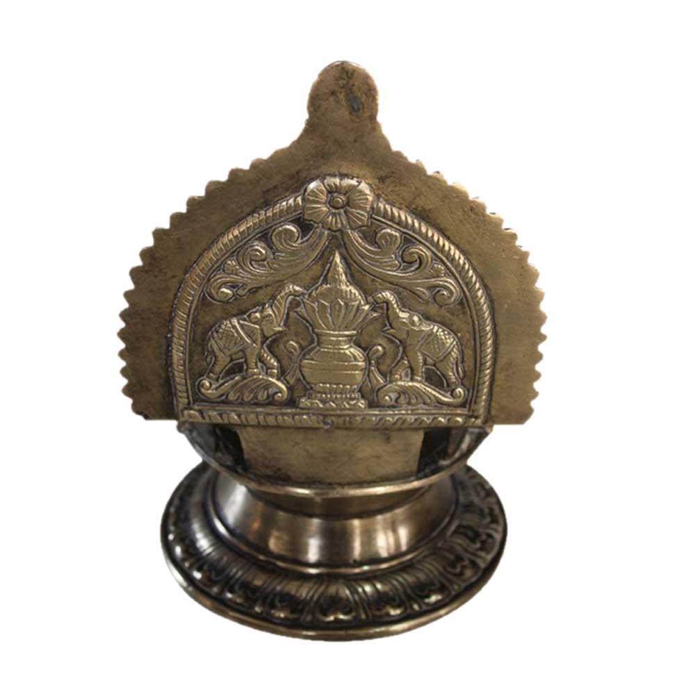 Gaj Laxmi Brass Oil Lamp (Ht-7.75 Inches)