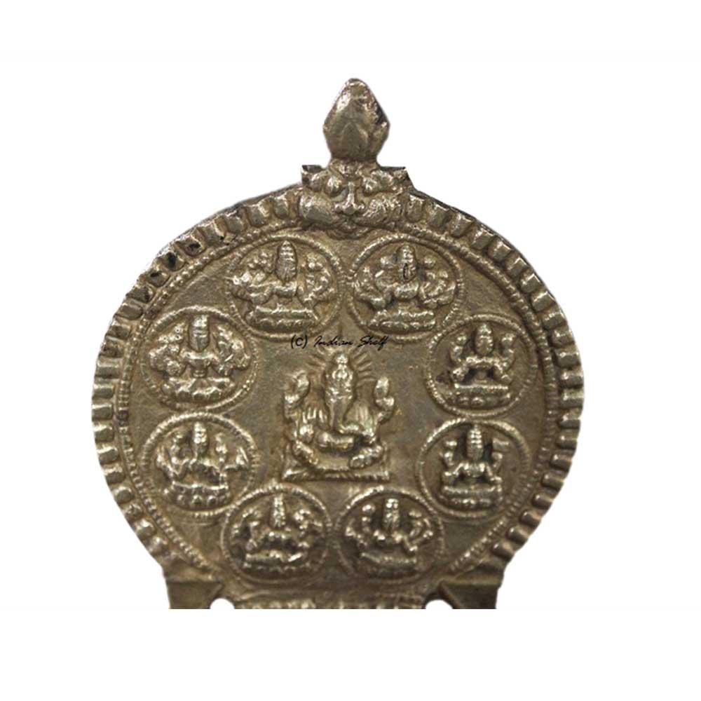 Ganesh Laxmi Brass Lamp (Ht-7 Inches)