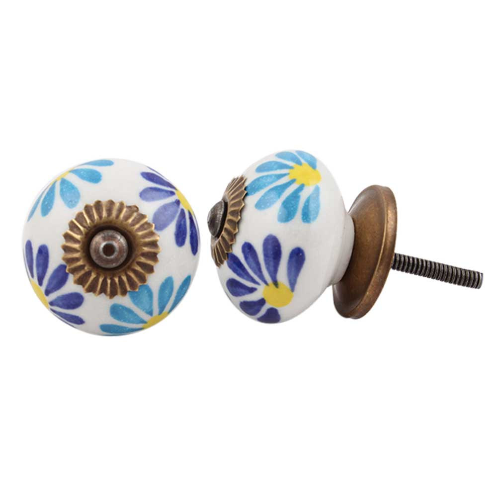 Blue Angel Ceramic Knob