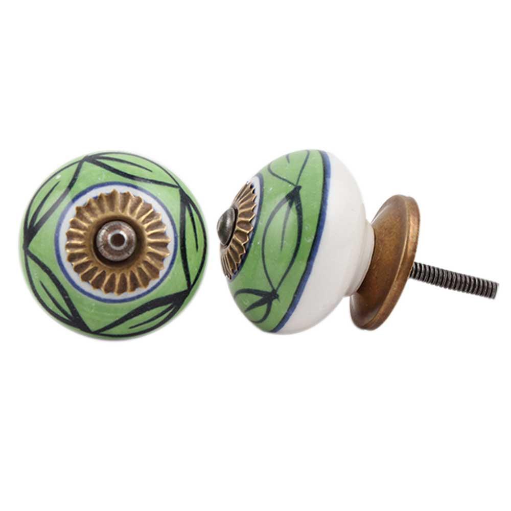 Green loop ceramic knob