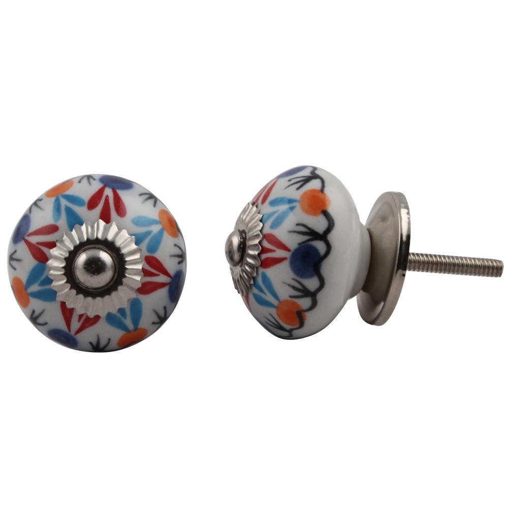 Red Blue clover knob