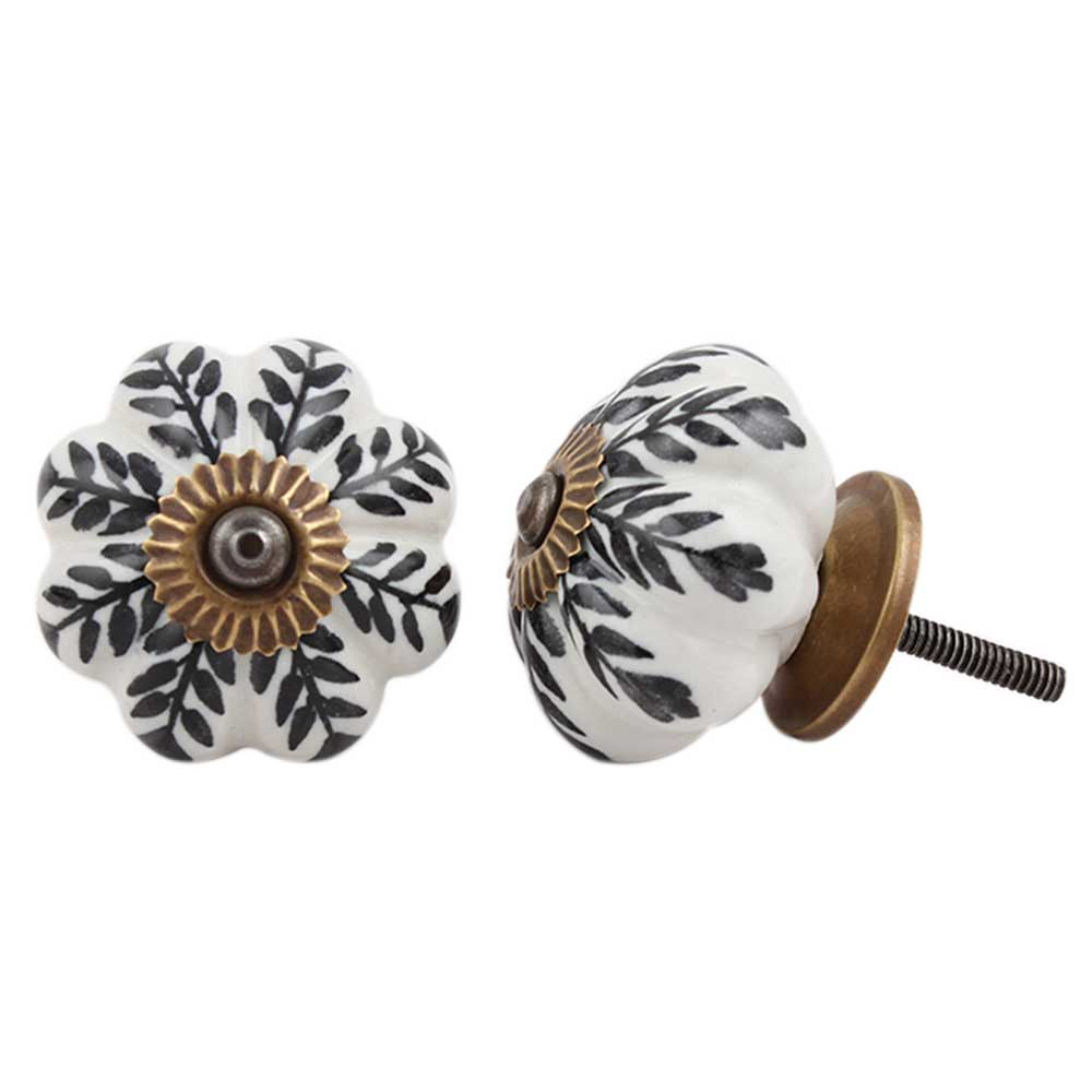 Black Leaf Melon Knob