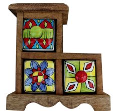 Spice Box-617 Masala Rack Gift Item