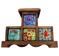 Spice Box-646 Masala Rack Container Gift Item