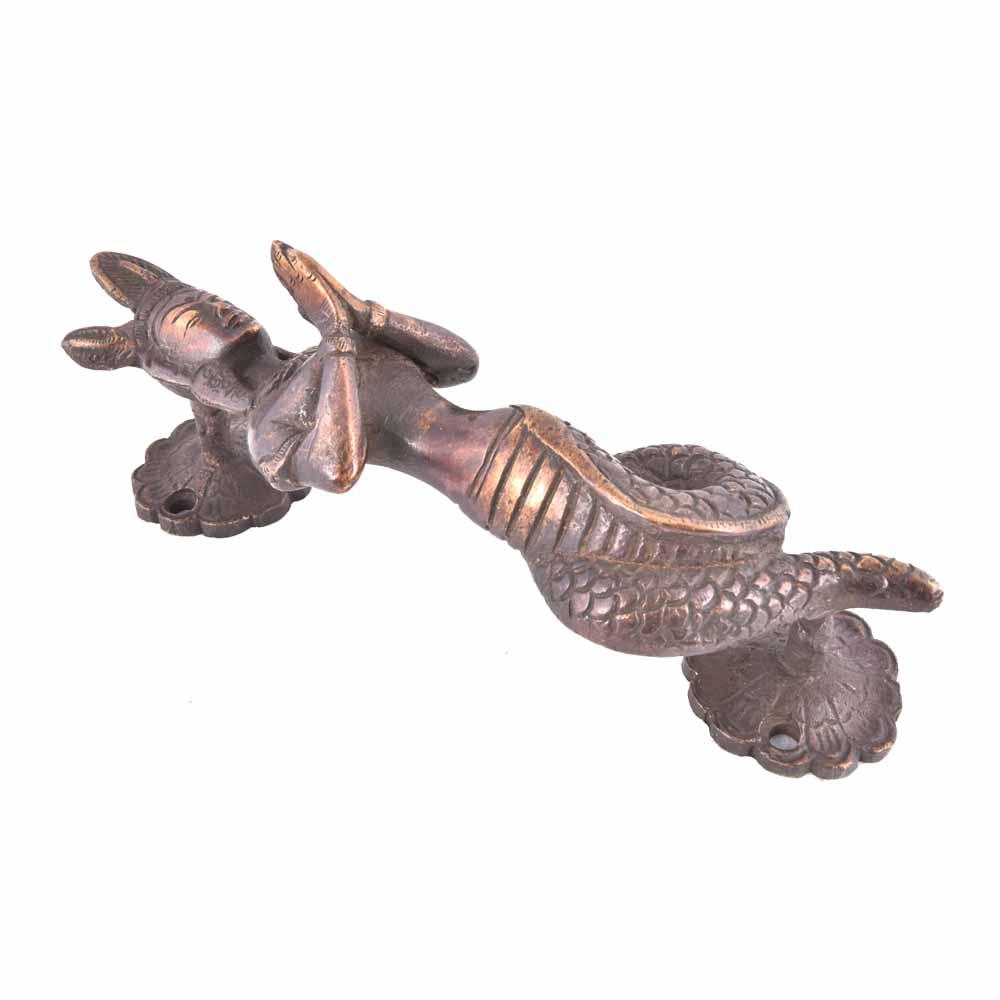 Naga Serpent Door Handles In Brass