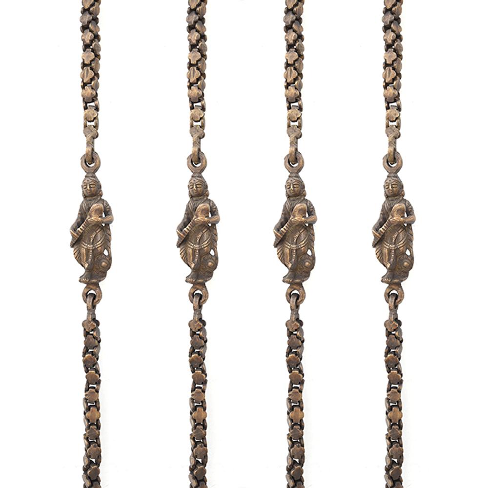 Brass swing chain bronze antique