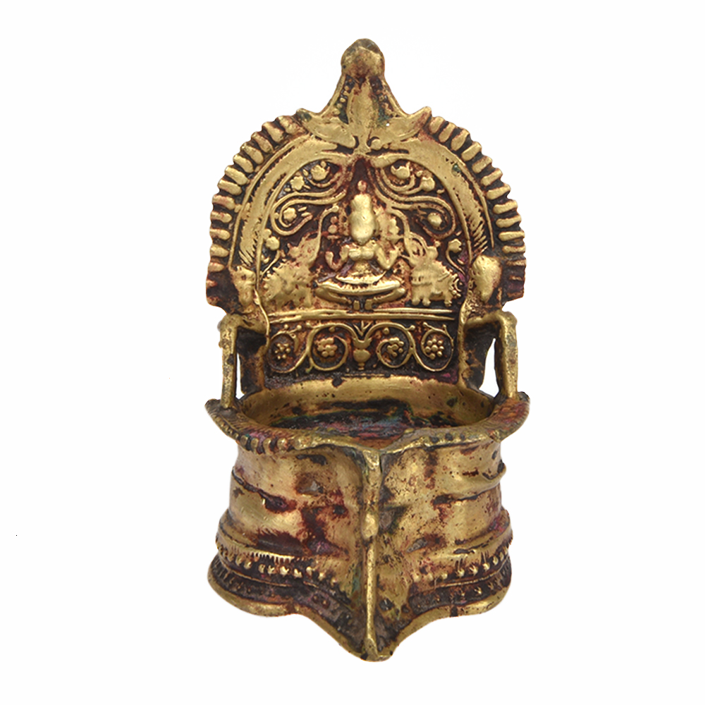 Elephant Temple Oil Lamp for Temple Stone Lamp  76uhy