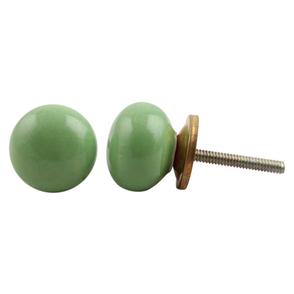 Pea Green Knob Small