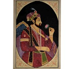 Jodha akbar mughal painting with a rose 35 X 24
