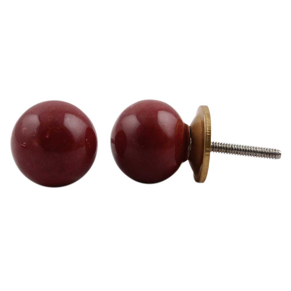 Plum Ceramic Knob Small
