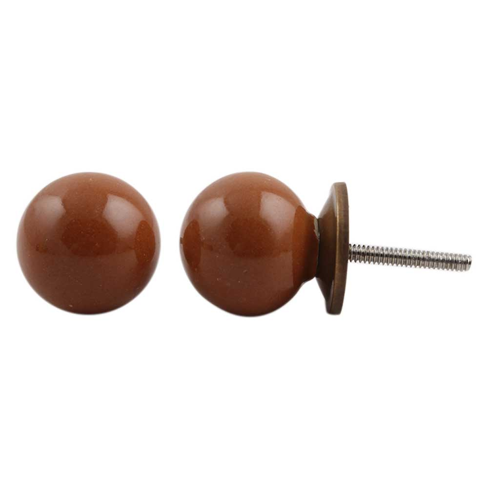 Dark Brown Knob Small