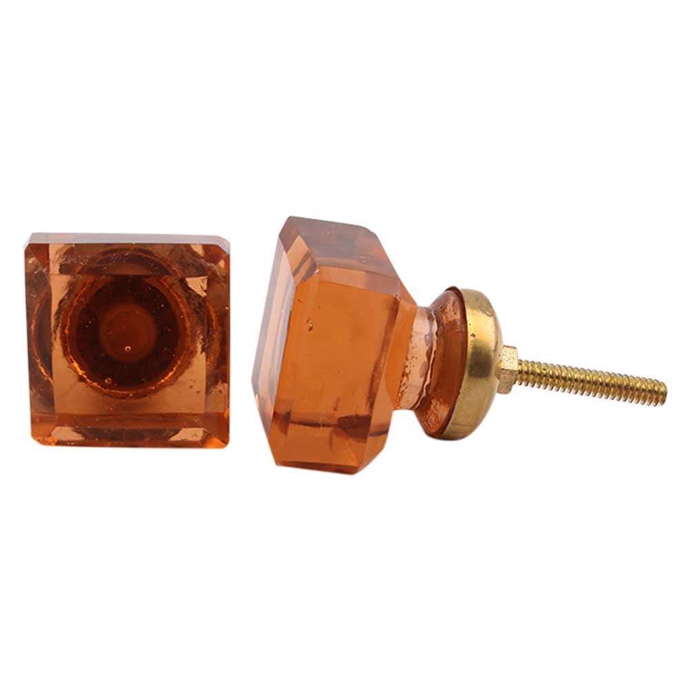 Amber Square Drawer Knobs