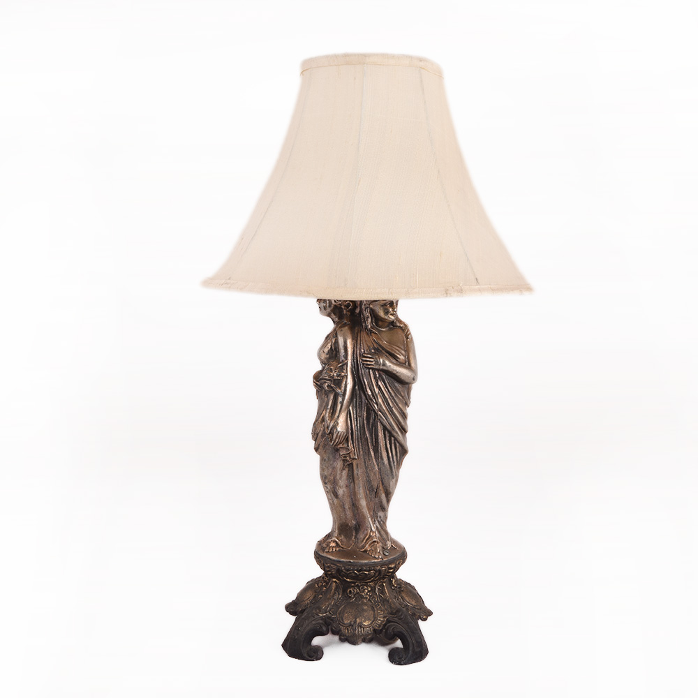 Lady Statue Metal Sculpture Lamp