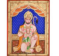 Tanjore Painting Of Lord Hanuman