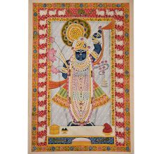 Pichwai Painting Of Krisha As Srinathji.