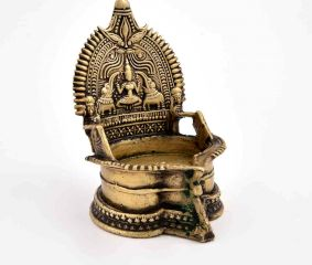 Goddess Lakshmi Bronze Oil Lamp