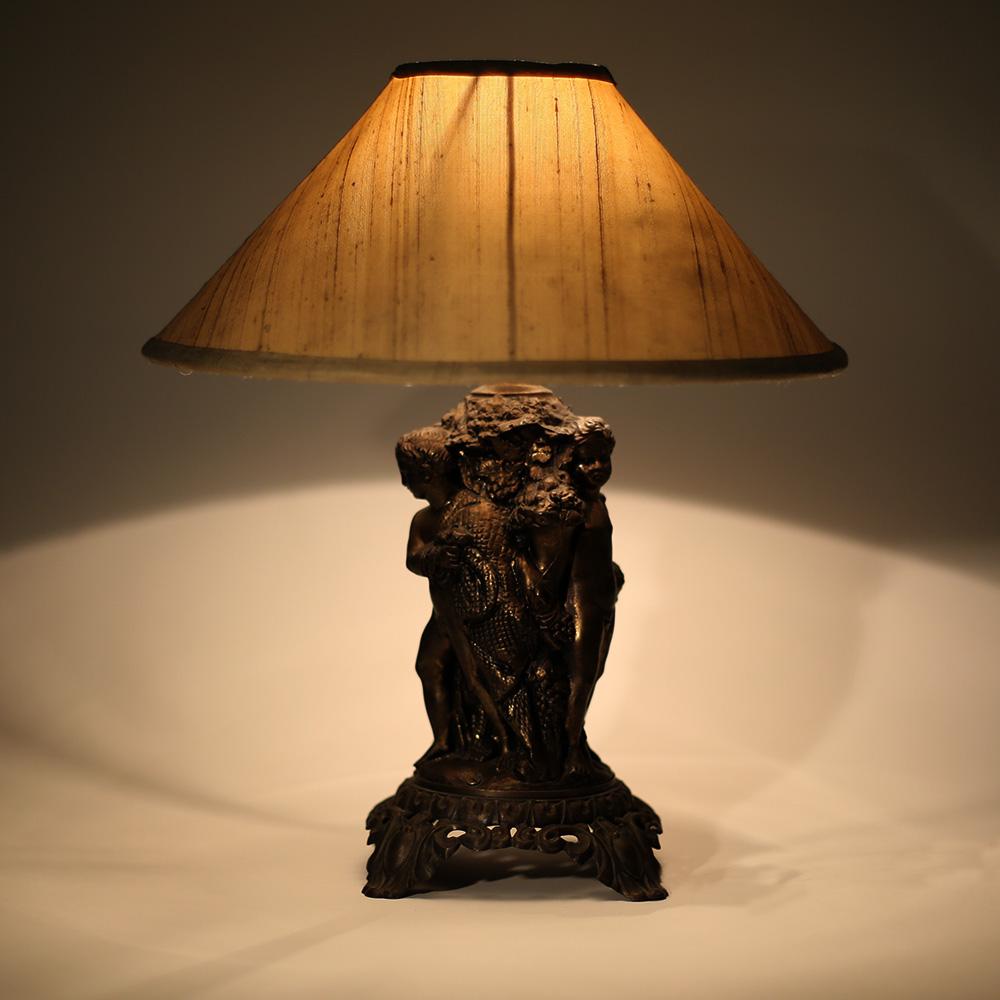 Three Cherub Table Lamp