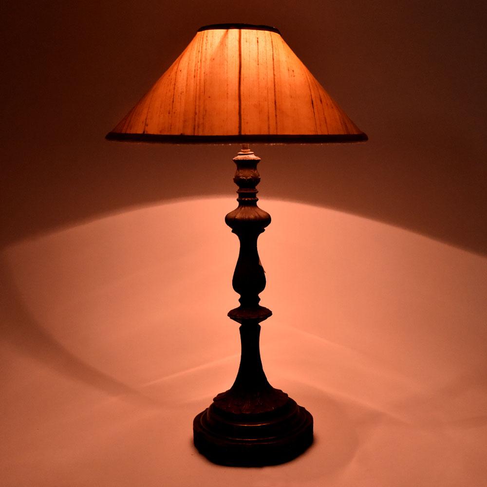 Cast Metal Ornate Lamp