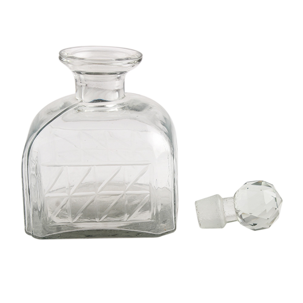 Square Shaped Small Box Cut Glass Bottle Online