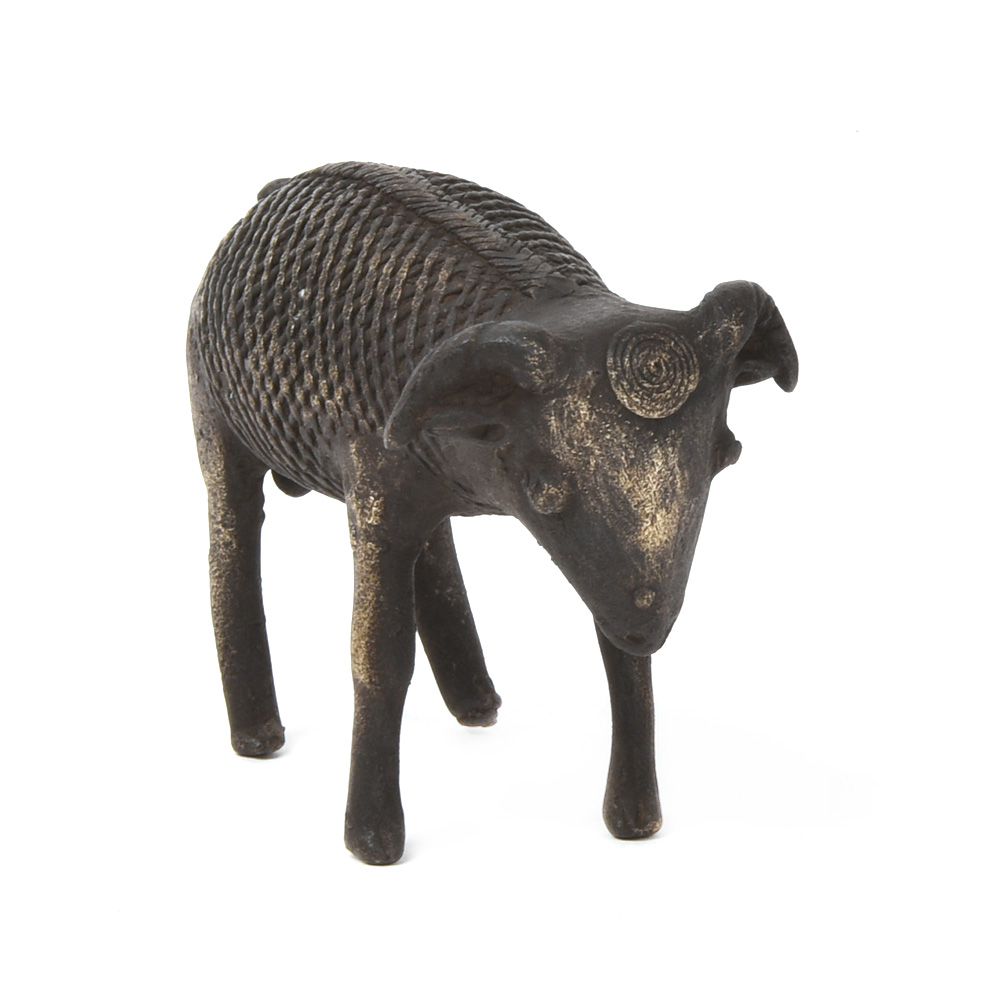 Bronze Carved Three Sheep Statues