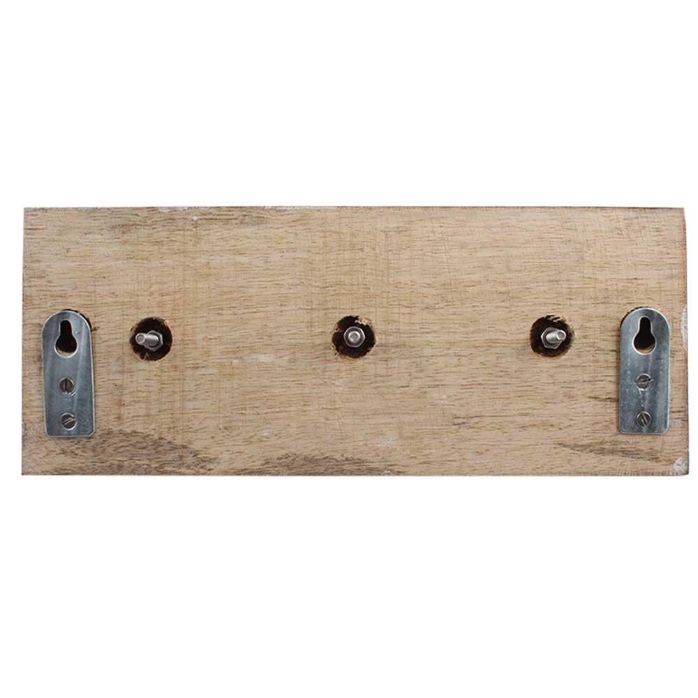 Cream Black Strip Wooden Hooks