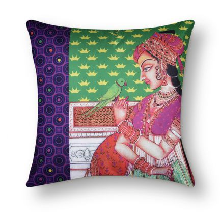 Queen Pattern Cushion Cover
