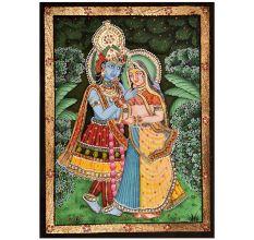 Tanjore Painting Of Radha Krishna