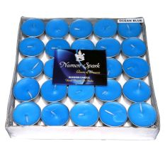 Ocean Blue Tea-Light Candle (Pack of 50)