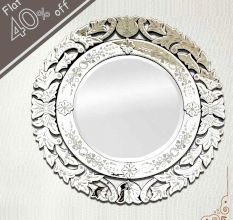 Round Venetian Mirror-48 inches