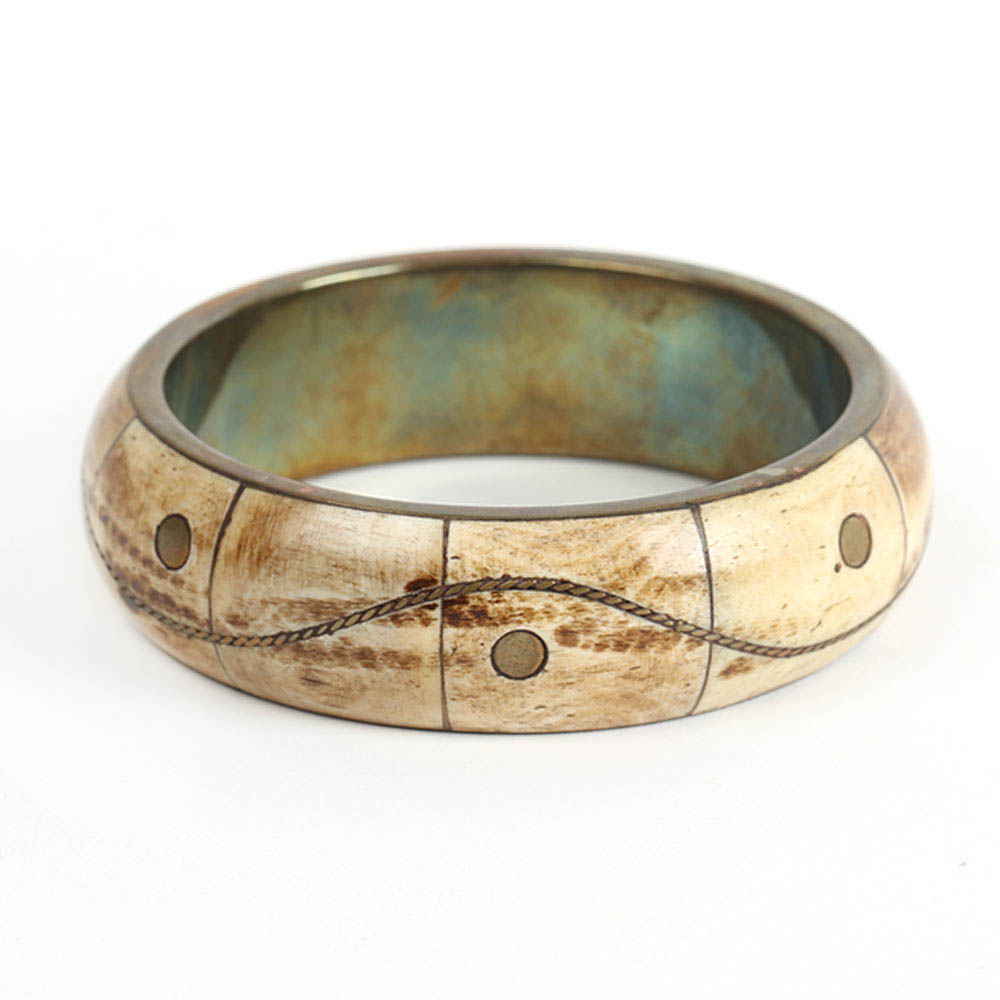 Brass Bone Bangle (2)