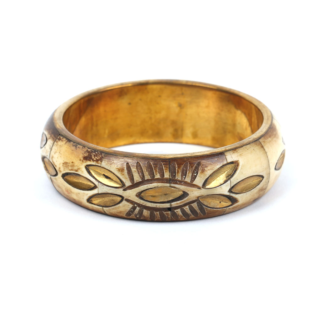 Brass Bone Bangle (8)