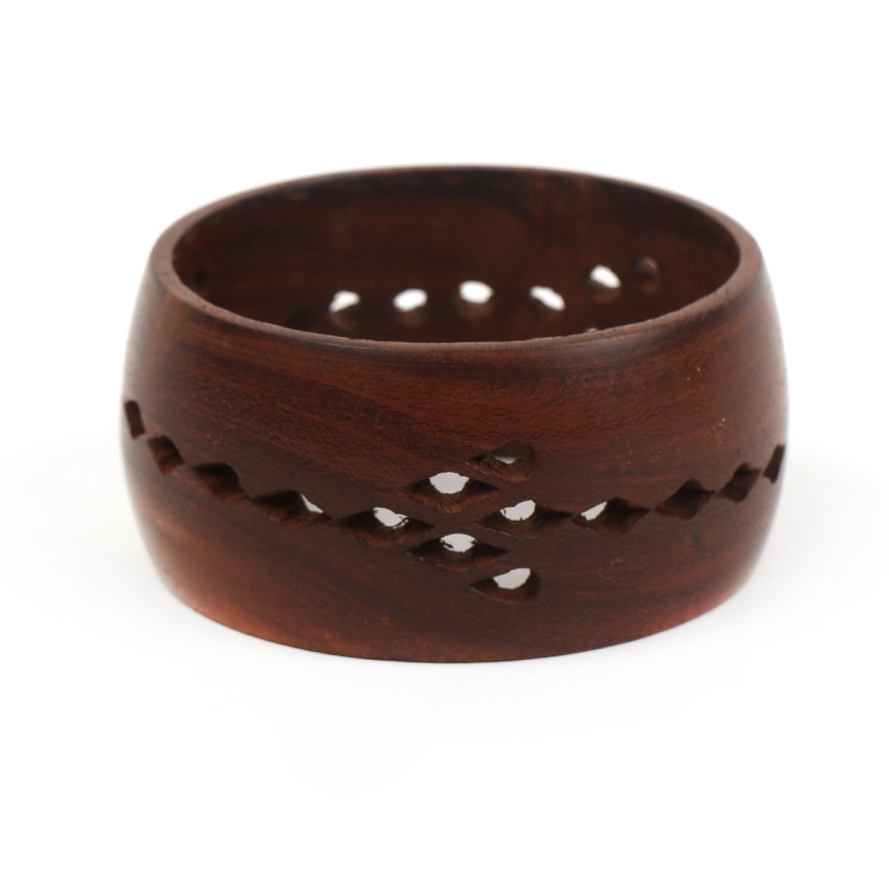 Jali design wooden bangle