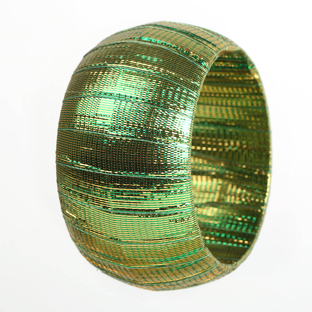 Green shining bangle