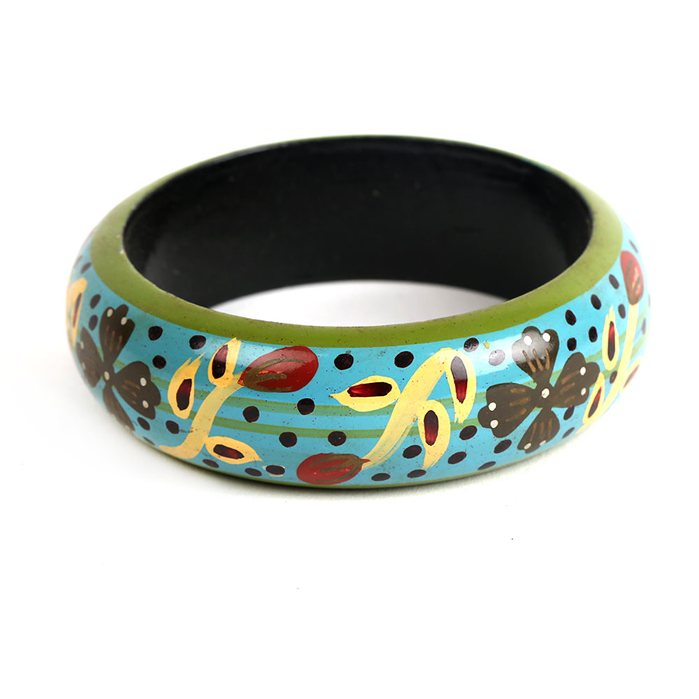 Lisianthus wooden bangle