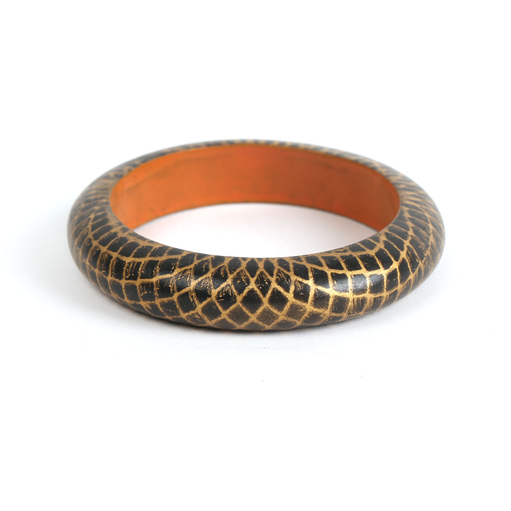 Golden check bangle