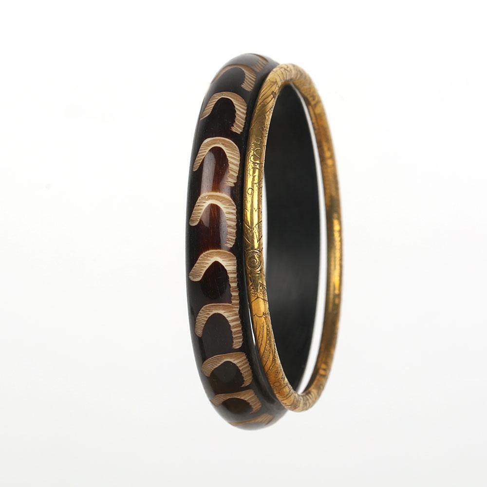 Horn Brass Bangle-04