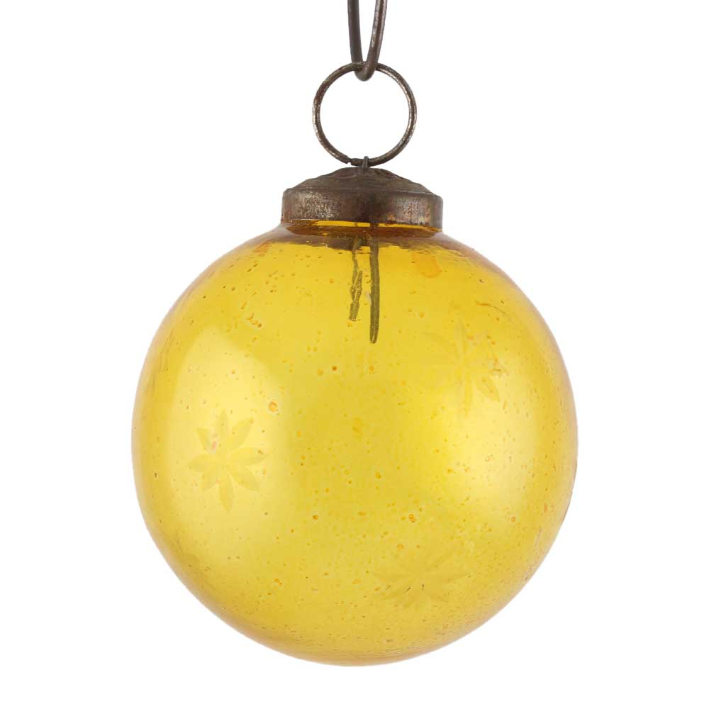 Yellow Round Star Cut Christmas Hanging Online